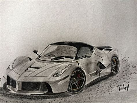 ferrari laferrari sketch ferrari laferrari kashyap drawings illustration