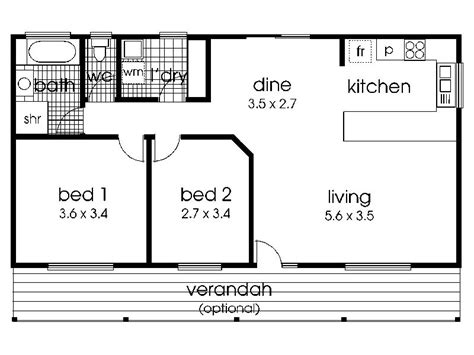 Floor Plan For 2 Bedroom House by 2 Bedroom House Plans Interior4you
