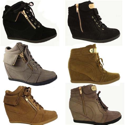 high top heel sneakers new high top wedge heel sneakers ankle bootie