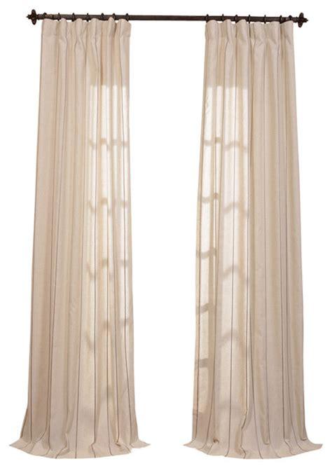 hemp drapes trinidad hemp linen blend stripe curtain traditional
