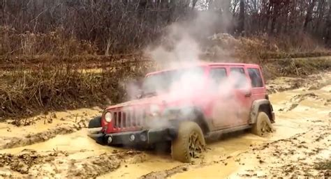 jeep stuck in mud how to destroy a brand new jeep wrangler in the mud