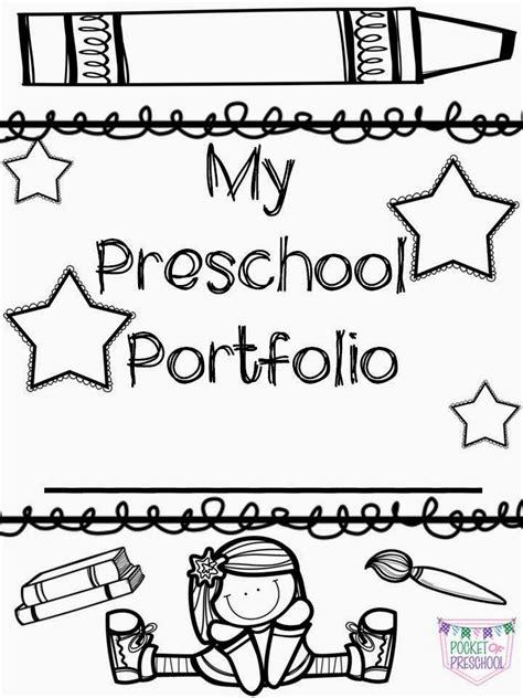 Portfolio Covers For Preschool Pre K Or Kindergarten Student Portfolios A Boy Version Is Also Children S Portfolio Template Free