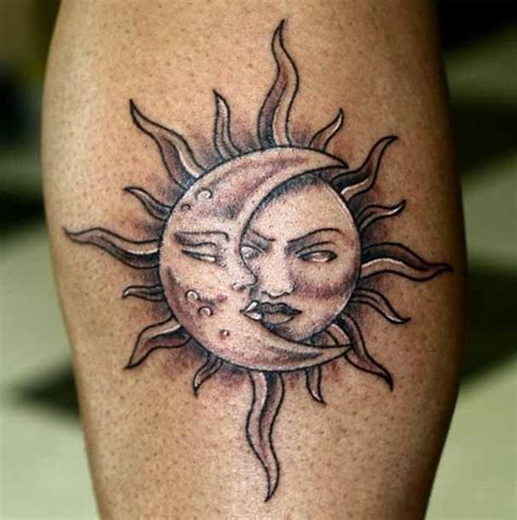 sun moon and stars tattoo 30 amazing sun designs for boys and