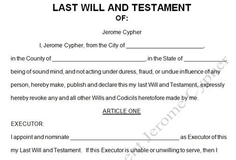 last will and testament word template sle of last will and testament template will testament