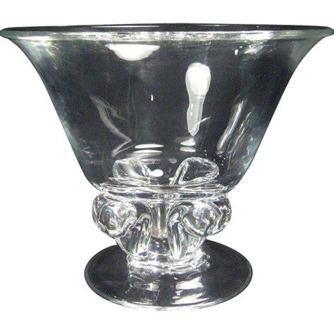 Steuben Glass Vase Vintage by Large Vintage Steuben Pedestal Vase 1984 From