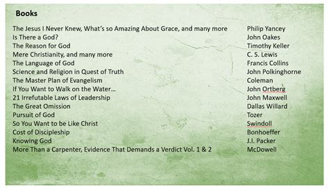 book list book list jesus is the answer