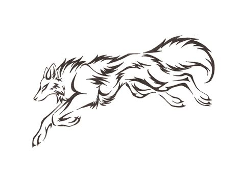 wolf outline tattoo outline drawing of a fox wolf outline drawing cliparts