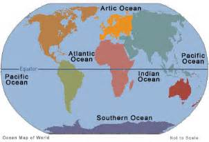 Map Of The World Oceans by Oceans Information On All 5 Oceans Of World Important