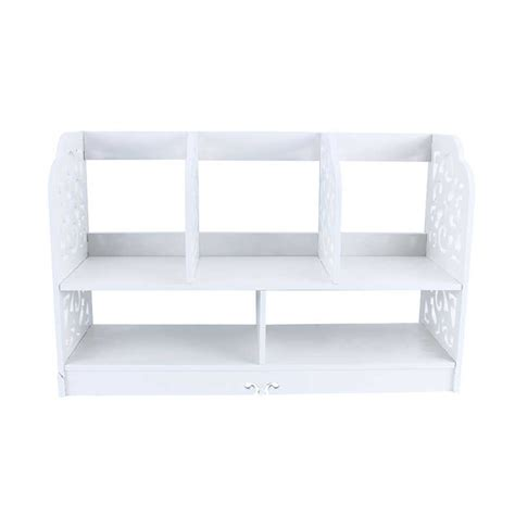 1pc bookcase shelf corner shelf wooden shelf storage