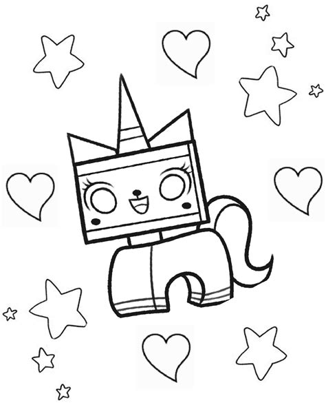 unikitty lego coloring page coloring pages unikitty coloring pages