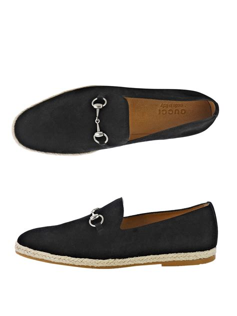 gucci suede loafer gucci snaffle suede loafers in black for lyst