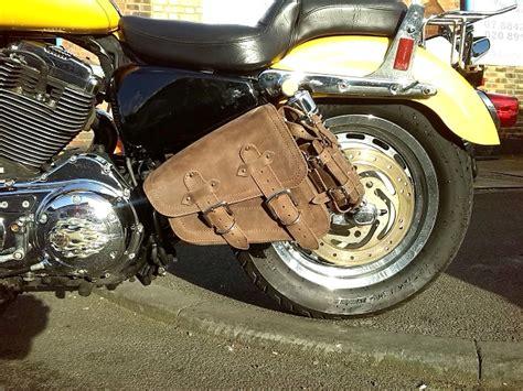 W20 Brown Simple Harley Davidson harley davidson sportster cuir marron simple sacoche 1l