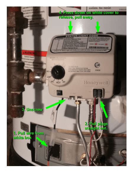 furnace status light not on how to diy fix a honeywell water heater temprature control