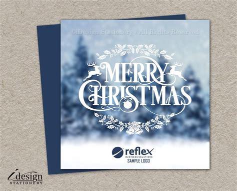 winter scene business christmas cards  logo printable corporate holida corporate