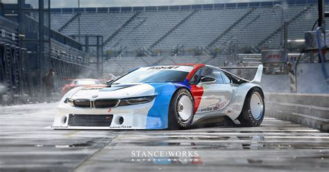 bmw race cars rendering shows a bmw i8 procar racing car