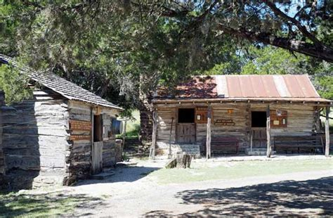 Cabins In Burnet by See Settler On Fort Croghan Day