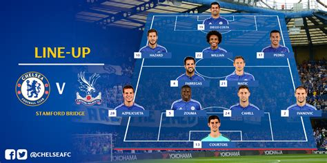 theme line chelsea here s how chelsea line up to take on crystal palace