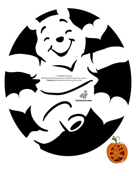 printable pumpkin stencils free disney cute disney cartoon pumpkin winnie the pohh woo jr