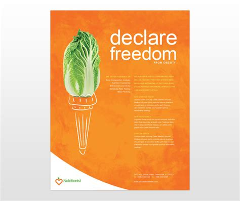 flyer template nutrition dietician nutritionist services consulting business