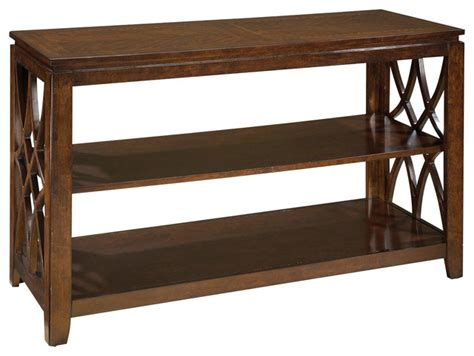 48 inch sofa standard furniture woodmont 48 inch sofa table in brown