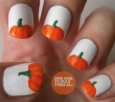 pumpkin nail design one nail to rule them all pumpkins