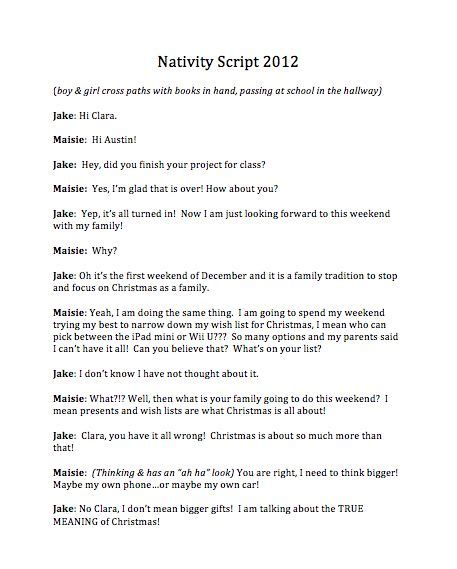 Play Scripts For Mba Students by Downloadable Free Nativity Script For A