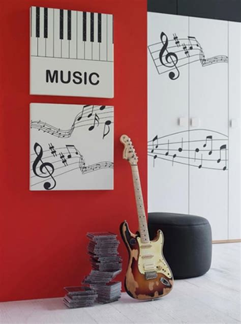music home decor minimalist bedroom design with music themed ideas