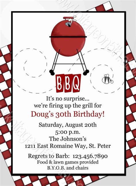 printable grill invitation fire up the grill mod bbq cookout or birthday party
