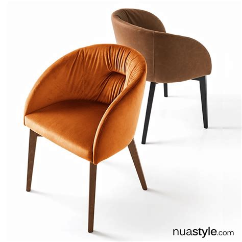 Soft Chair by Connubia Calligaris Rosie Soft Chair Wooden Legs Vintage Leather