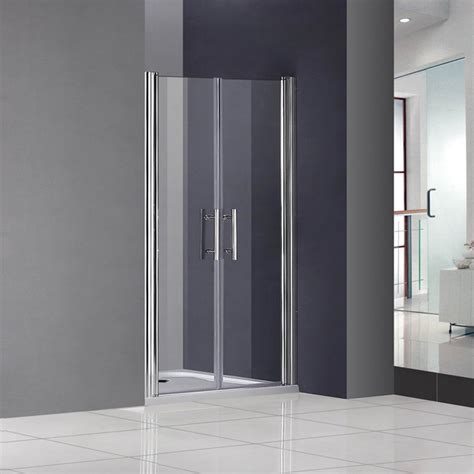 Shower Room Doors Bifold Pivot Hinge Sliding Room Shower Door Enclosure Glass Screen Cubicle Ebay