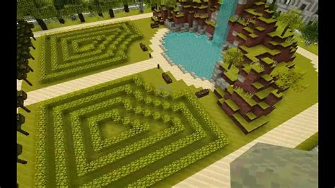 how to make a beautiful garden beautiful gardens in minecraft youtube