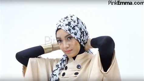 youtube tutorial hijab kondangan tutorial hijab turban dengan pashmina bermotif bisa