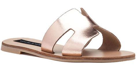 steven by steve madden greece sandal gold leather lyst