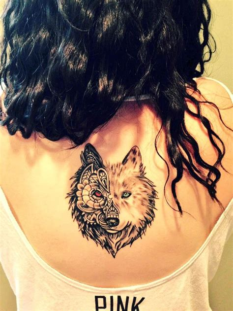 two wolves tattoo 17 best images about on back