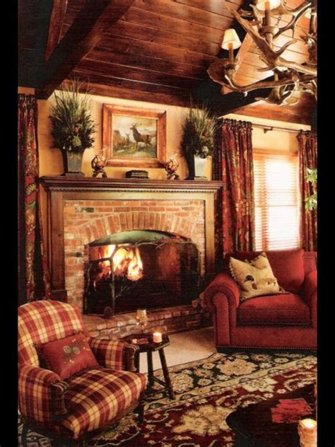 Cozy Cabin Fireplace by Best Ideas About Country Rustic Living Rooms Country Home