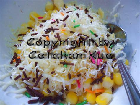 cetakan kue jagung susu keju