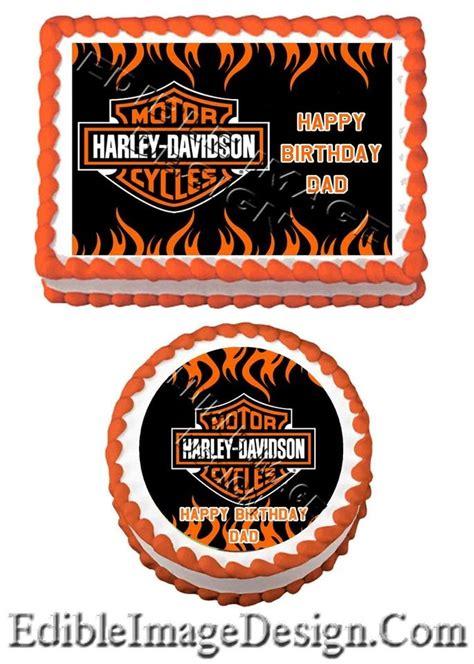 Harley Davidson Cake Decorations by Harley Davidson Edible Birthday Cake Image Cupcake
