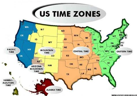 map of the us with time zones map travel