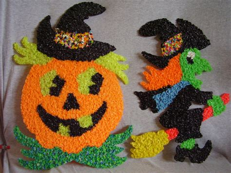 Melted Plastic Popcorn Decorations by Vintage Melted Plastic Popcorn Decorations Witch P Witches