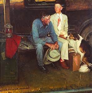 breaking home ties potrzebie norman rockwell mystery solved