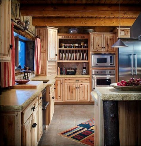 Rustic Primitive Home Decor log cabin kitchens farmhouse kitchen wichita by