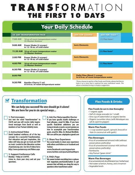 Detox Purium by Purium 10 Day Transformation Schedule Tips And