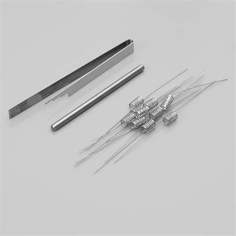 D07 Notch Coil Stainless Steel 0 2 Ohm Ss Wire 316l Wismec Theorem 0 2 ohm notchcoil 3 5 x 6mm 10 pcs 316ss coils for rba rda rta