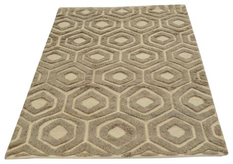 Low Pile Area Rug 100 Wool Ivory Moroccan Knotted High And Low Pile Rug Area Rugs By 1800 Get A Rug