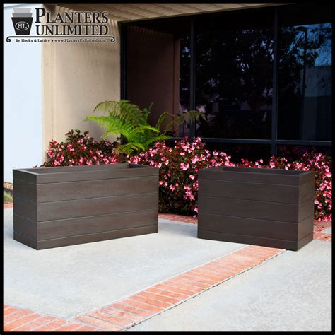 madera fiberglass commercial planter 48in l x 18in w x 18in h
