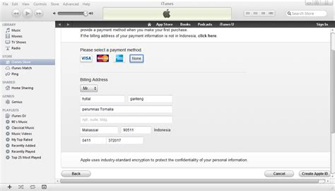 cara membuat apple id dengan visa cara membuat apple id tanpa quot contact itunes support to
