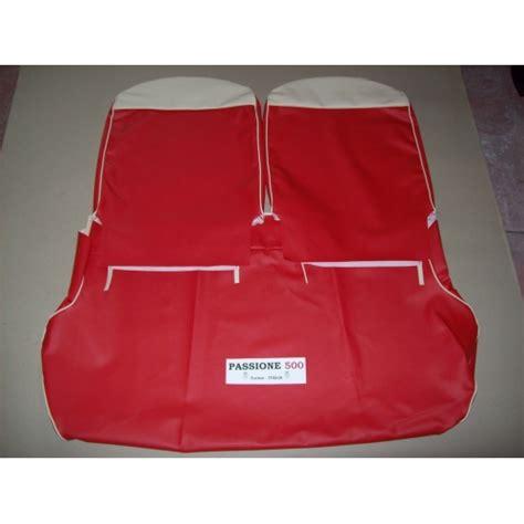 fiat 500 f interni fodere sedili in scay rosso fiat 500 f fino al 1968