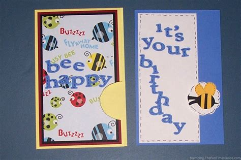 make a happy birthday card how to make a bee happy birthday pocket card the
