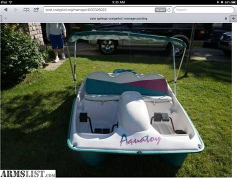 paddle boat seat cushions armslist for sale trade aquatoy paddle boat