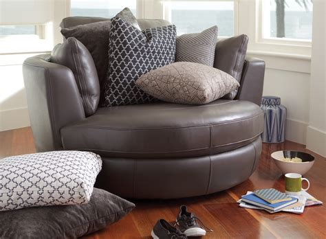 Plush leather sofas round swivel cuddle chair big round swivel round swivel cuddle chair in